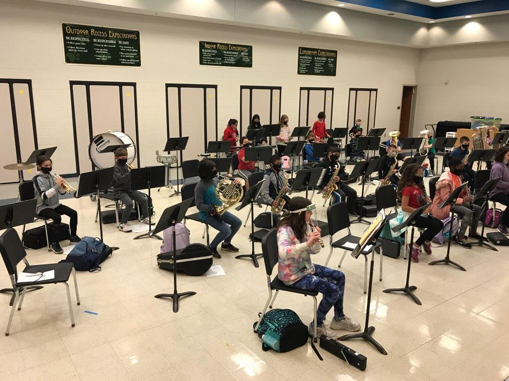 Cadet Band  first rehearsal